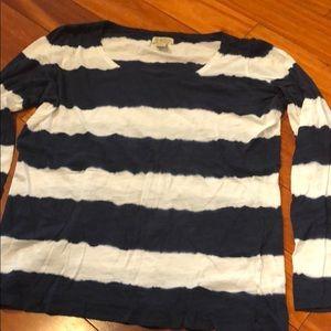 BLue & white stripped long sleeve tee